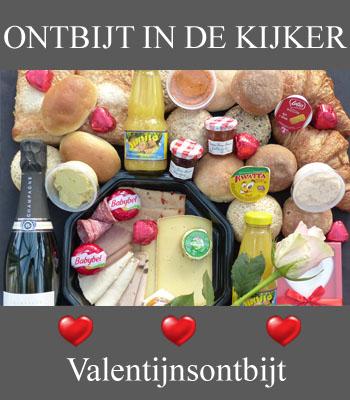 Ontbijtmand voor Valentijn